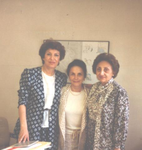 Mahnaz Afkhami, Nayereh Ebtehaj Sami, and Mehrangiz Dolatshahi, the first Minister of Women, the first Majles deputy, and the first ambassador