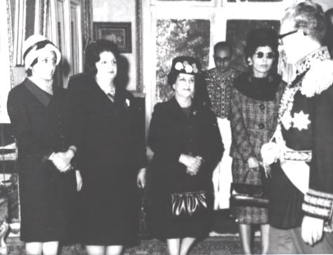 Women parliamentarians meet with the Shah