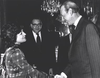 Princess Ashraf is Greeted by the UN Secretary-General