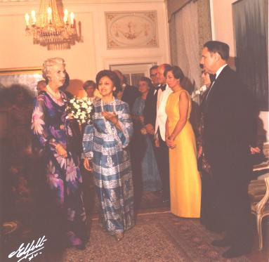Queen Ingrid of Denmark and Dolatshahi
