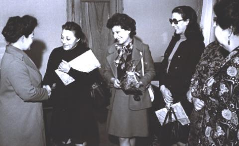Heshmat Youssefi, Mahnaz Afkhami, and Homa Roohi During a Visit to the USSR (1st,4th,and 2nd  SG of WOI)