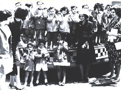 Princess Ashraf at the Opening of a Childcare Center
